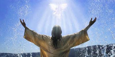 imagem de Jesus sendo batizado.