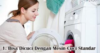 Kamu Bisa Mencucinya Dengan Mesin Cuci Standar merupakan tips mencuci kaos bahan cotton combed
