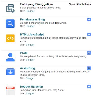 Mengembalikan Widget Blogger yang Terhapus