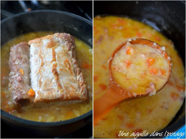 Filet de porc au cidre carottes oignons pommes crème