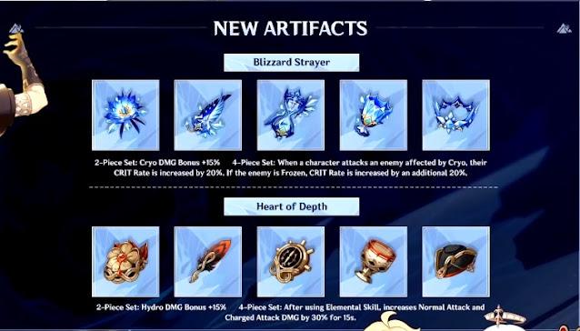 Artifact Genshin Impact 1.2