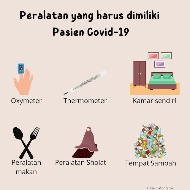Peralatan yang dimiliki pasien covid