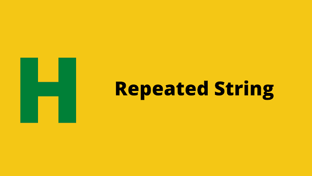 HackerRank Repeated String Interview preparation kit solution