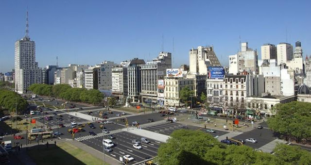 Large Buenos Route La Julio De 9 Plus Aires Argentine La Du Monde
