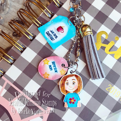planner, planner charms, kraftin' kimmie stamps, challenge, copics