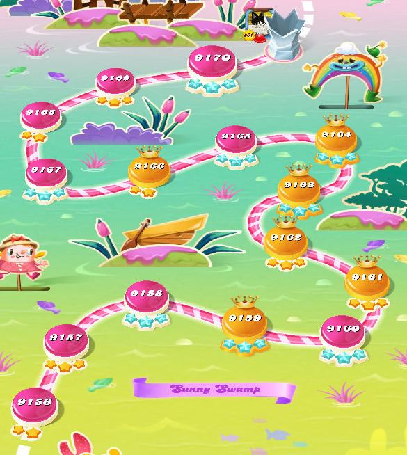 Candy Crush Saga level 9156-9170