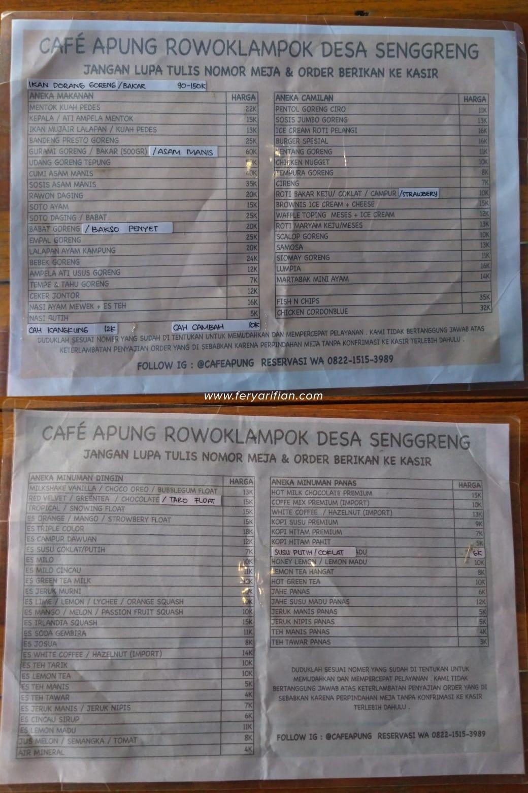 Menikmati Sore Hari Sambil Santap Kuliner Di Atas Cafe Apung Rowo Klampok Fery Arifian