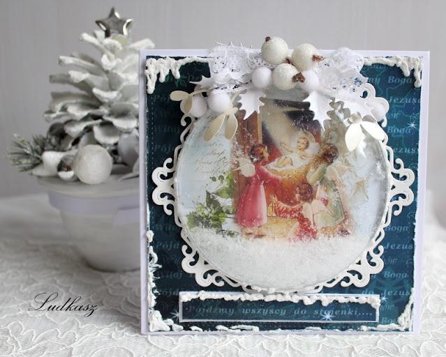 kartka na wyzwanie świąteczne