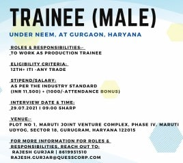 Quess Staffing Solutions Is Recruitment ITI Any Trades Candidates Gurugram, Haryana Location