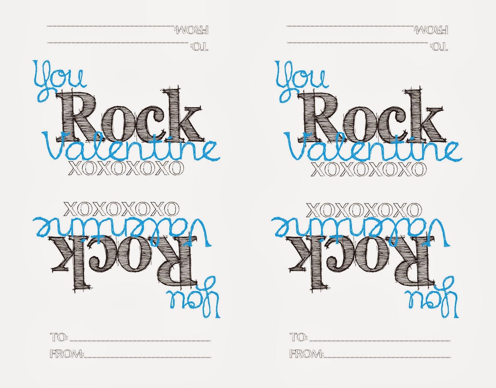 image relating to You Rock Valentine Printable identified as Up-Cycled Printable Treasures: Printable Valentine - POP Rocks