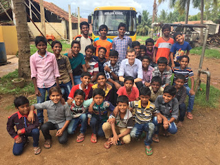 The boys at the children's home on a Sunday afternoon