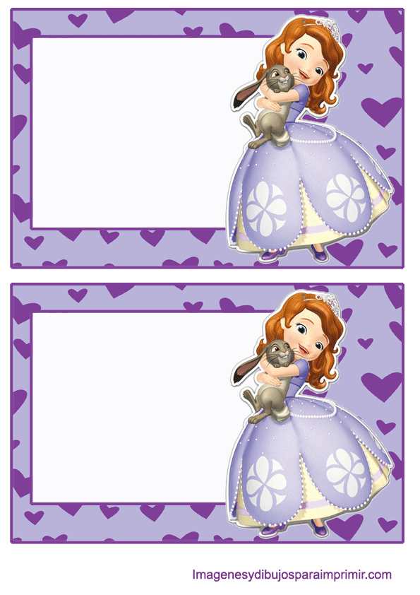 Invitaciones De Princesa Sofia Para Imprimir Imágenes Y