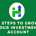 3 Steps To Grow Your Investment Account #infographic