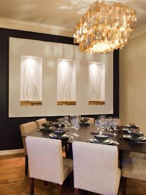 idee decorative per pareti di piccole sale da pranzo