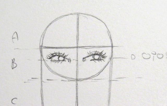 Dibujo de pestañas más marcadas