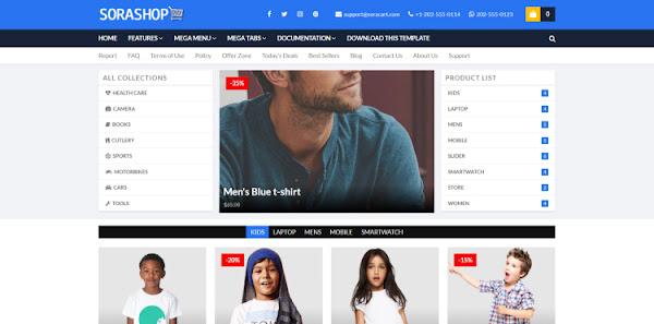 shop тема для интернет магазина на блоггер