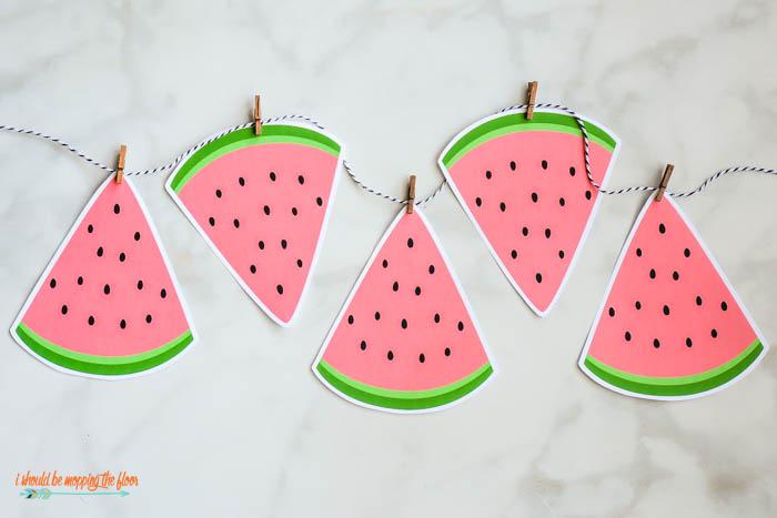 Watermelon Printable Banner