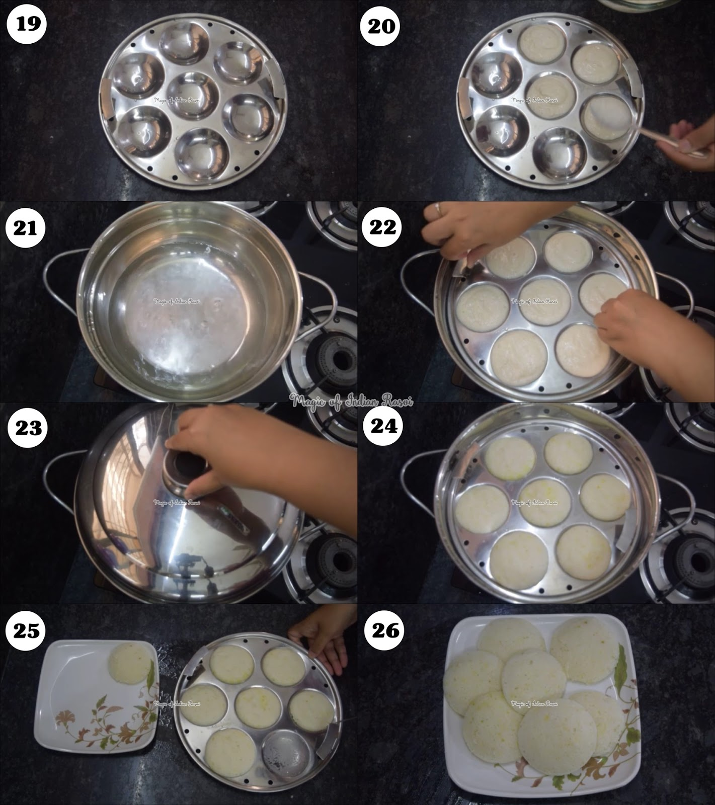 Instant Rice Idli Mix Recipe - साउथ इंडियन इडली प्रेमिक्स घर पर बनाये - Priya R - Magic of Indian Rasoi