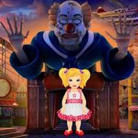 Big Halloween Scary Clown Circus Escape