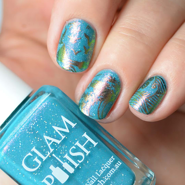 pigment nail art stamping