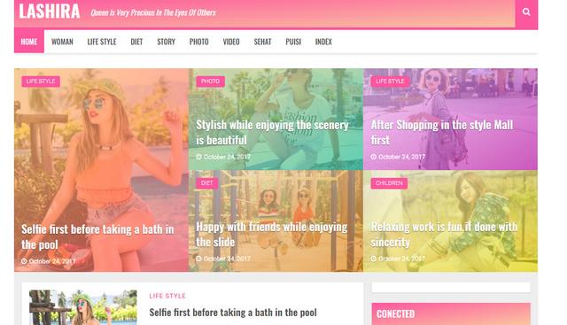 Lashira Responsive Blogger Templates