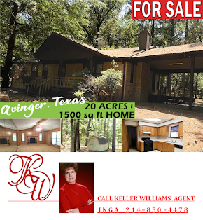 Home for sale near Avinger, Texas on 20 acres with lake access offers rural living and modern conveniences
