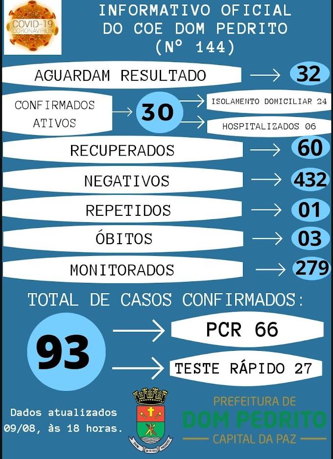 Município recebe três novos resultados positivos para Covid-19