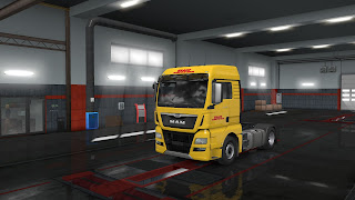 ets 2 european logistics companies paint jobs pack v1.1 screenshots 17, dhl