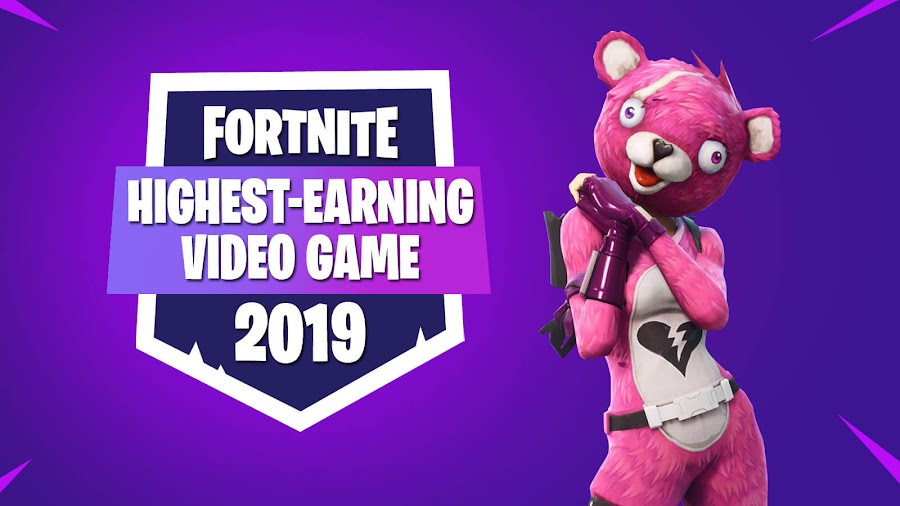 fortnite highest-earning video game 2019 epic games free-to-play online battle royale