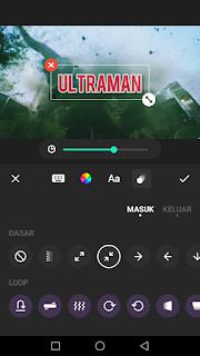Cara edit video menambah efek judul atau teks kedalam video menggunakan aplikasi Inshot di Android