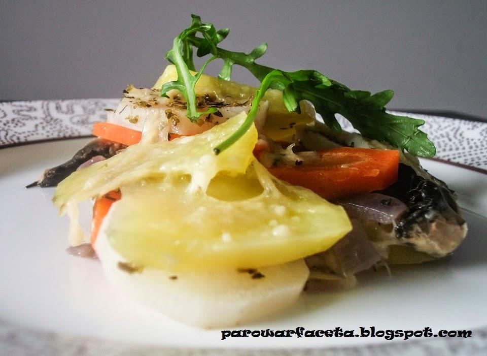 warzywna z pieczarkami z parowaru