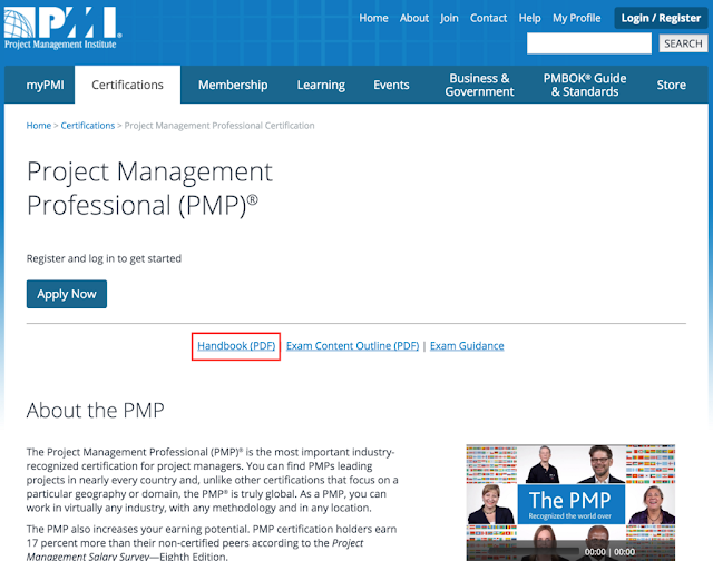 PMI PMP Handbook is Out of Date