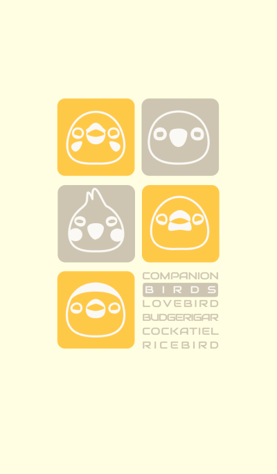 Companion Birds/yellow 14