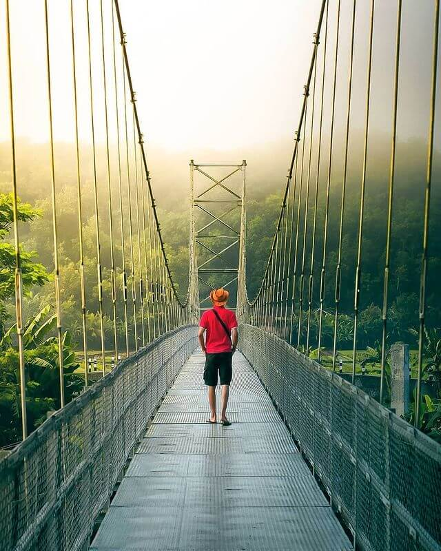 Jembatan Gantung Selopamiro, Jogja - Foto Instagram arfadoni