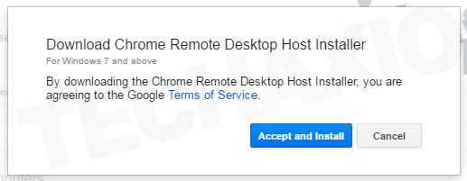 Chrome Remote Desktop Host Installer
