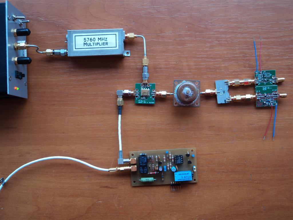 Croatia microwave: 5 7 GHz poor guy transverter