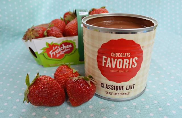 chocolats favoris fondue fraises
