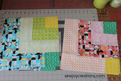 Dropping In quilt blocks