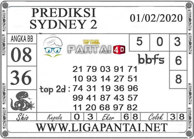 PREDIKSI TOGEL SYDNEY 2 PANTAI4D 01 FEBRUARI 2020