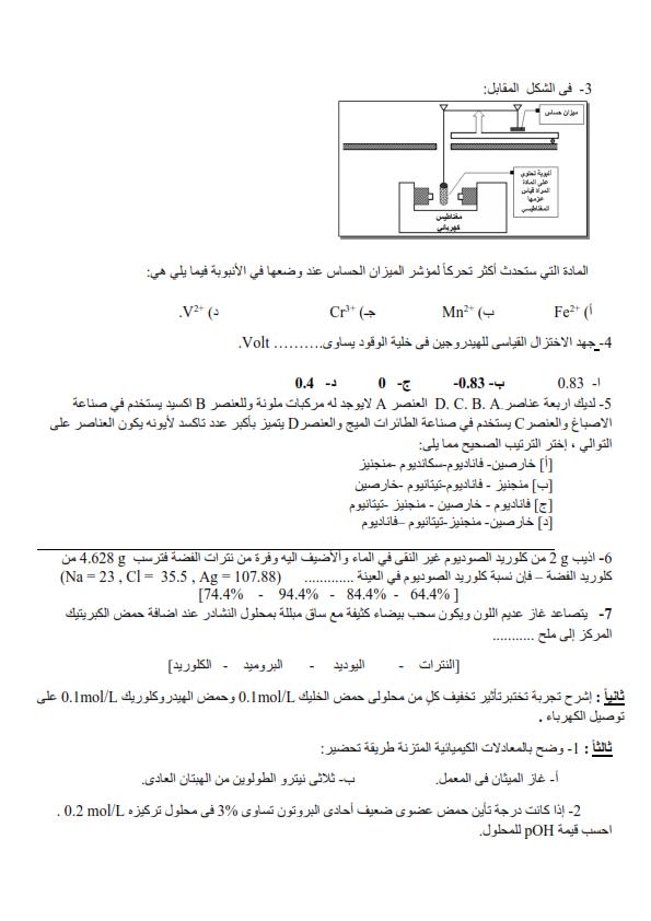امتحان كيمياء الثانوية العامة بالسودان 2016 1_003
