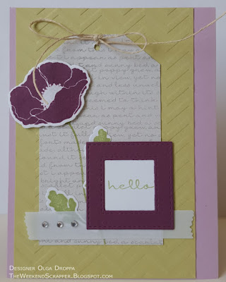 card using mftstamps pretty poppies for mftwsc267 sketch