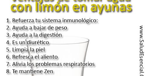 Efectos de tomar agua con limon en ayunas