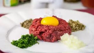 Guerison service dish - Tartare