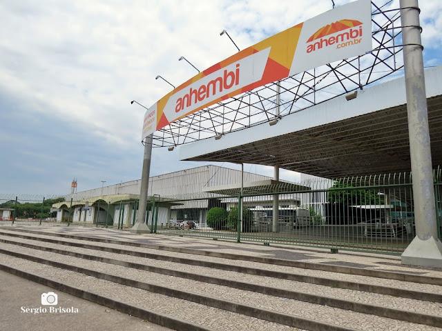 Vista ampla do Pavilhão de Exposições do Anhembi - Santana - São Paulo