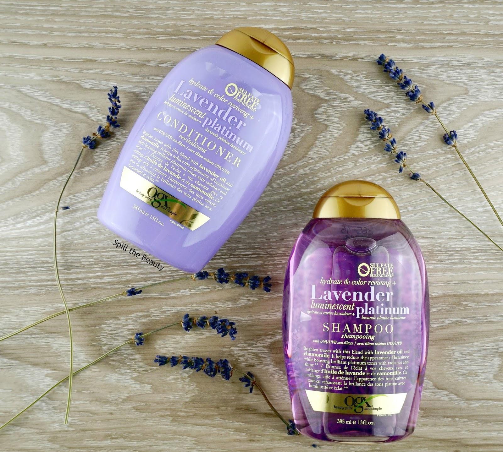 OGX Lavender Luminescent Platinum Shampoo & Conditioner - Review
