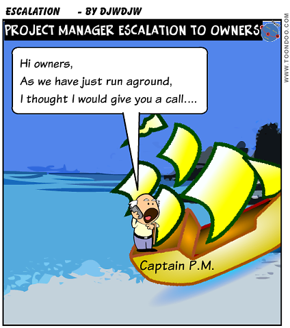 Why, when and how to escalate to your Project owners? ~ Be a