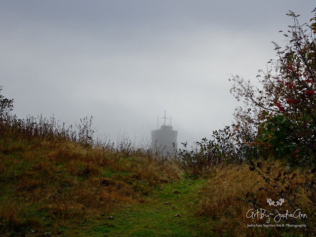 Cabot Tower In Fog