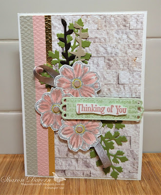 Rhapsody in craft, Blushing Bride, Quiet Meadow, Quiet Meadow Bundle, Meadow Dies, Tasteful Textile 3D Embossing Folder, In Good Taste DSP, Thinking of you, Thinking of you Card, Stampin Up! Annual Catalogue 2021, #colourcreationsbloghop, #loveitchopit