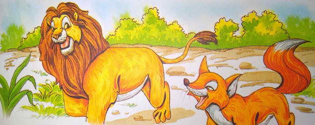 शेर और लोमड़ी Hindi Moral Stories For Class 5th