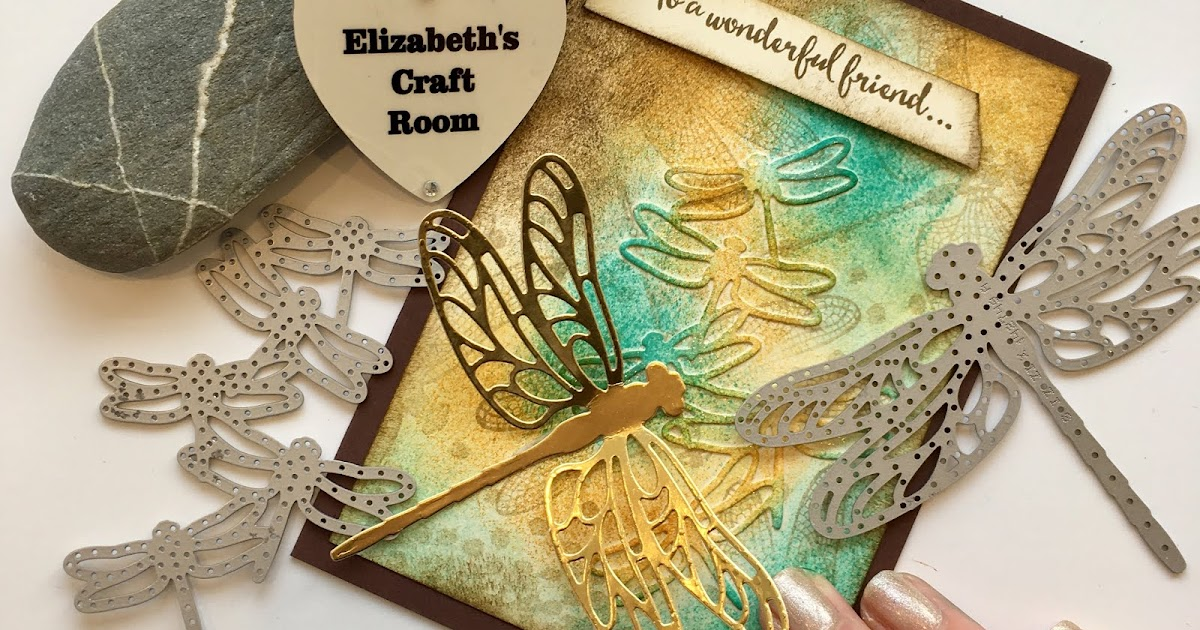 Make And Take Room In A Box Elizabeth Farm: Elizabeth's Craft Room: VIDEO Dragonfly Dreams Collage Card